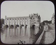Glass Magic Lantern Slide CHENONCEAU CASTLE C1890 PHOTO FRANCE CHATEAU