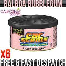 CALIFORNIA CAR SCENTS BALBOA BUBBLEGUM AIR FRESHENER HOME VAN OFFICE TAXI x 6