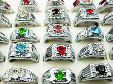 5pcs Wholesale Lots Fashion Jewelry Crystal CZ Rhinestone Silver Plated Rings