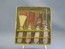 Boston Warehouse Spreaders Butter Cheese Frosty Drink Set Of 4 Stainless Steel
