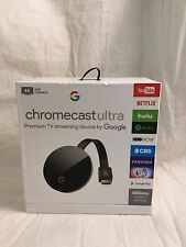 Google Chromecast Ultra Premium TV Streaming Device - 4K HDR Capable