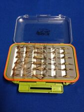 36 x Daddy Long Legs / Mayfly In Fly Box - Trout Flies - Fly Fishing Flies
