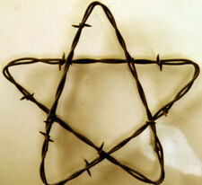 "6"" Rusty Barbed Wire Star Rustic Western Farmhouse & Ranch Decor Repurposed Barb"