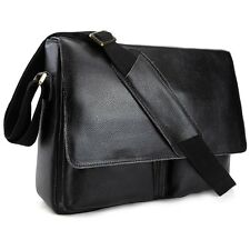 Men's Real Bull Leather Messenger Shoulder Bag SATCHEL Cross Body Casual College