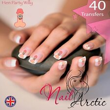 Hen Do Hen Party Willy Nail Water Transfers Decal Art Stickers x 40