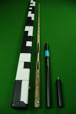 Paragon Series1 Piece Ash Shaft  Black Ebony Handmade Snooker Cue Set#312