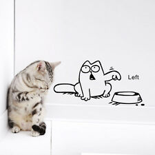 1 Sheet Funny Cat Need Food Wall Sticker Kitchen Pet Wallpaper DIY Home Decor