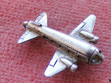 VINTAGE STERLING SILVER CHARM AIRPLANE MOVES