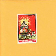 VINTAGE Match Matchbox Label DEEP RICH COLOR Diamond Match Ind Tirumangalam B1