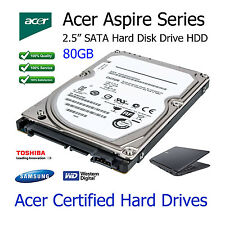 "80GB Acer Aspire 5732ZG 2.5"" SATA Laptop Hard Disk Drive HDD Upgrade Replacement"