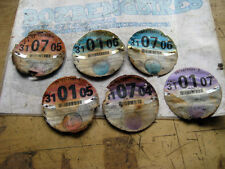 2004 July - 2007 Jan 6 x Expired Tax Discs Suzuki Bicycle (Motor Cycle) Set of 6
