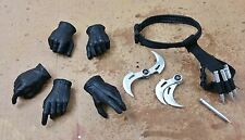 1/6 Blade II Hand GLOVED glaives stakes Holster Belt Hot Toys Head Sculpt Gun cy