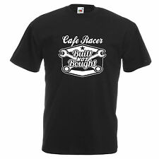 cafe racer rocker t shirt classic BSA Norton inspired biker motorbike retro dad