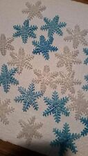 Frozen Snowflakes edible sugar cupcake toppers 24