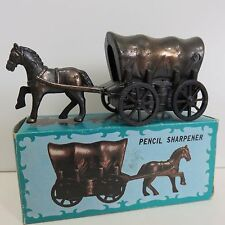 Miniature Diecast w/Antique Finish HORSE & WAGON PENCIL SHARPENER, Used in Box