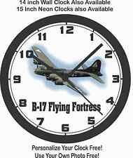 B-17 FLYING FORTRESS AIRPLANE WALL CLOCK-AIR FORCE, ARMY, WORLD WAR II, KOREA