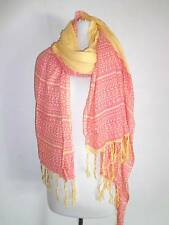 Sir Alistair Rai Aztec scarf Wrap Yellow lite red colors NWT
