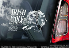 Irish Wolf Hound - Car Window Sticker - Dog Sign -V02