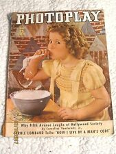 Photoplay Magazine (June 1937) Shirley Temple cover~Lombard~Tone~Durbin~Gable