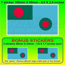 "BANGLADESH Bangladeshi AirForce Flag 100mm (4"") Vinyl Sticker, Decal x1+2 BONUS"