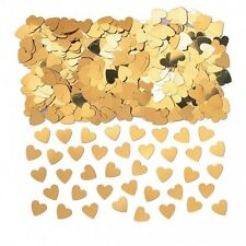 Gold Sparkle Heart Wedding Confetti Table Decoration