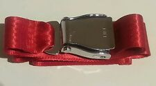 Chrome RED Airliner Scater Seat Belt Buckle Adjustable 110cm Fashion aeroplane