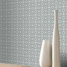 Wallpaper Rasch - Luxury Retro Geometric Design Pattern - White & Grey - 277203