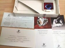 1996 Limited Edition SWAROVSKI Blue Renewal 3D CRYSTAL HEART in Box 100% Mint