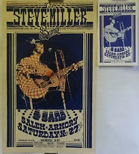 The Steve Miller Band & Sand, Live in Salem, OR - 1976 Concert Poster & Handbill