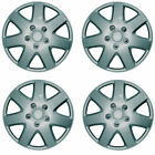 SET OF 4 X 14 INCH SILVER WHEEL COVER TRIM HUB CAP ALLOY LOOK 14""