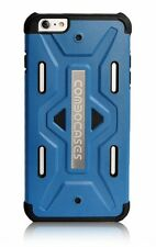 iPhone 6 6s Shockproof Armor case Blue with free screen Protector eforcity