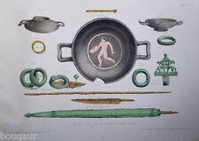 MOREL Album de la Champagne souterraine Période gauloise 1898 42 planches coul.