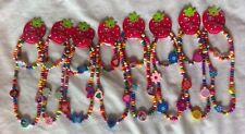 7 Wooden Bead Necklace Bracelet Set Kids Child Children Joblot Partybag Gift