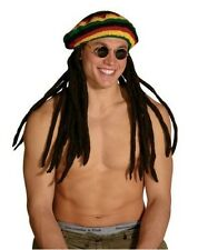 Unisex Adult Funny Jamaican RASTA TAM HAT with attached DREADLOCKS