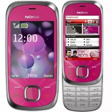 Brand New Nokia 7230 Hot Pink Slider 3G Unlocked Mobile Phone Complete Box