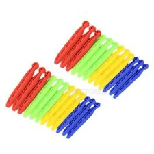 24 PLASTIC DOLLY CLOTH PEGS WASHING LINE LAUNDRY DURABLE NON RUSTING STRONG