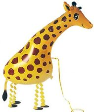 GIRAFFE WALKING BALLOON FOIL HELIUM PET PARTY ZOO AIRWALKER BIRTHDAY AIR FARM