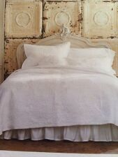 Simply Shabby Chic White Rose Stitch Full / Queen Quilt New