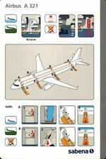 SAFETY CARD: Sabena  A321  Big Issue J. Drappier