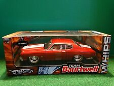 Hot Wheels 1970 Chevy Chevelle Team Baurtwell WHIPS 1:18 Scale Diecast '70 Car