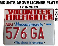 Volunteer Firefighter License Plate Topper