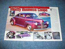 """1941 Ford Street Rod Article """"Mostly Business Coupe"""""""
