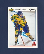 Tomas Sandstrom signed Canada Cup 1991-92 Upper Deck hockey card