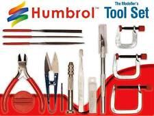 Humbrol Modellbau-Werkzeug-Set Seitenschneider Handbohrer Bastelmesser Schere...