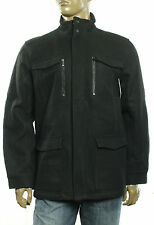 $248 New Mens Calvin Klein Wool Blend Four Pocket Black Coat XL