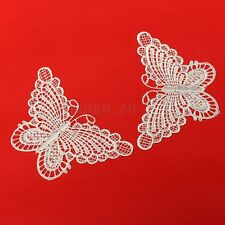 10pcs Applique Guipure Dentelle Papillon Mercerie Couture Broderie Scrapbooking