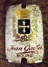 plaque ancienne de cadre de vélo  CYCLE GALLET BOURG