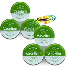6x Vaseline Lip Therapy Aloe Vera Green Balm Tin 20g