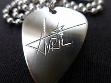Avril Lavigne Hand carving Stainless Steel Guitar Pick Necklace