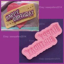 Happy Birthday letters  silicone mold, 2 cavities for fondant, chocolate, resin